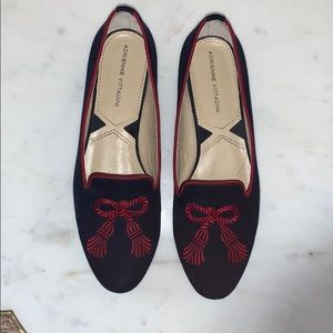 NWOT Adrienne Vittadini suede flats size 7.5.